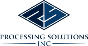 Processing solutions inc logo blue and light blue