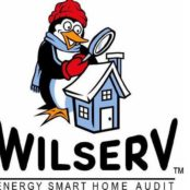 Wilserv engery home audit logo as a retail and mobile credit card processing merchant client of processing solutions inc